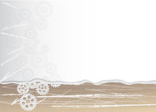 Abstract beige background with gears Royalty Free Stock Images