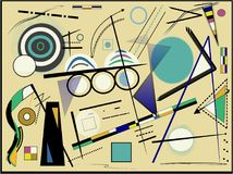 Abstract beige background ,inspired by the painter kandinsky Royalty Free Stock Photos