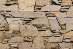 Abstract beige background of stone sandstone in a row