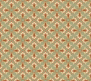 Abstract beige and brown floral geometric Seamless Royalty Free Stock Images