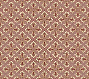 Abstract beige and brown floral geometric Seamless Stock Photography