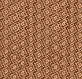 Abstract beige and chocolate geometric Seamless Te Royalty Free Stock Images