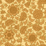 Abstract beige floral seamless background Royalty Free Stock Image