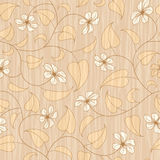 Abstract beige floral seamless background Royalty Free Stock Photography
