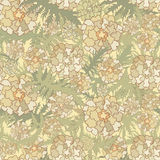Abstract Beige Floral Seamless Texture Stock Photo