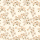 Abstract beige floral Seamless Texture Royalty Free Stock Photo