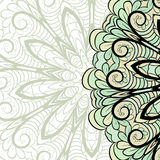Beige-green right border Royalty Free Stock Images