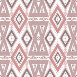 Abstract beige ornament naadloos patroon op wit Royalty-vrije Stock Afbeelding
