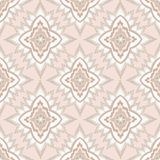 Abstract beige and white geometric Seamless Textur Stock Photography