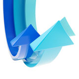 Abstract bend arrow copyspace background Royalty Free Stock Photos