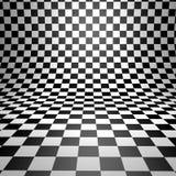 Abstract bent checkered background. Stock Photos