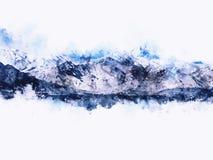Abstract bergenlandschap op witte achtergrond Royalty-vrije Stock Afbeelding
