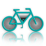 Abstract Bicycle. Abstract blue bicycle with reflection over white background illustration Royalty Free Stock Images