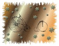 Abstract bicycles Stock Photo
