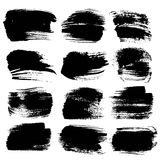 Abstract big black strokes  on a white Royalty Free Stock Photos