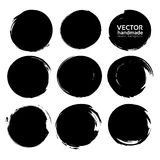 Abstract big black textured strokes set. Abstract big black textured strokes big set isolated on a white background vector illustration
