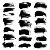 Abstract big black textured strokes Royalty Free Stock Photography