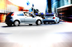 Abstract big city rush hour. Motion blurred Royalty Free Stock Photography
