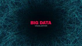 Abstract Big Data Futuristic Visualization. royalty free illustration