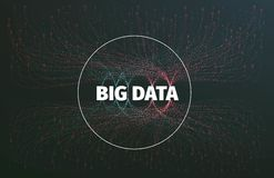 Abstract big data illustration. Information streams. Future technology Royalty Free Stock Images