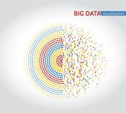 Abstract big data machine learning algorithms. Analysis of information minimalistic infographics design Stock Photography