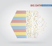 Abstract big data machine learning algorithms. Analysis of information minimalistic infographics design Royalty Free Stock Photography