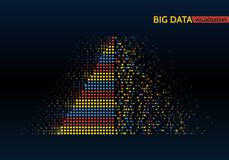Abstract big data machine learning algorithms. Abstract colorful big data machine learning algorithm visualization Royalty Free Stock Images