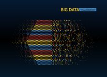 Abstract big data machine learning algorithms. Abstract colorful big data machine learning algorithm visualization Stock Photography