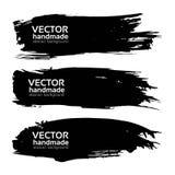 Abstract big long black strokes set Royalty Free Stock Photography