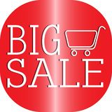 Big Sale Label. Abstract big sale label on a white background Stock Image