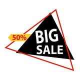Big Sale Label. Abstract big sale label on a white background Stock Photo