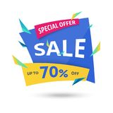 Abstract big sale template - modern vector illustration Royalty Free Stock Images
