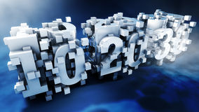 Abstract Big Ten Twenty Thirty With Cubic Design Royalty Free Stock Images