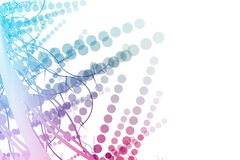 Abstract Billboard Background With Copyspace. In purple and blue Royalty Free Stock Photos