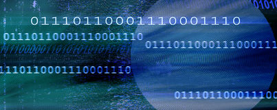 Abstract binary background stock photos