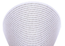 Abstract binary code Royalty Free Stock Images