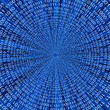 Abstract Binary Code 3D Vector Line Background Stock Photo