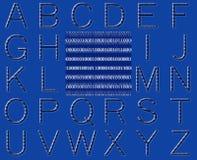 Abstract Binary Code Alphabet Stock Photos