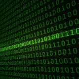 Abstract binary code background Stock Image