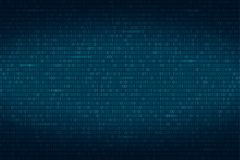 Abstract binary code background. Digital technology wallpaper.  Royalty Free Stock Photography