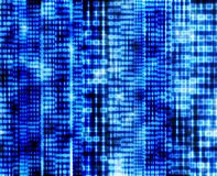Abstract binary code, blue digital screen Royalty Free Stock Images
