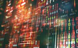 Abstract binary code. Cloud data. Blockchain technology royalty free illustration