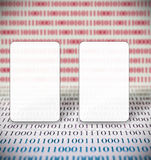 Abstract binary code and copy space Royalty Free Stock Photos