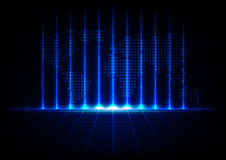 Abstract binary code with map technology design background Stock Photo