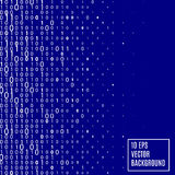 Abstract binary code Technology Background. Abstract Blue binary code Technology Background. Data and technology, decryption and encryption, computer background Vector Illustration