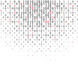 Abstract binary code Technology Background. Abstract Blue binary code Technology Background. Flat binary code screen listing table with red digit. Data and Vector Illustration