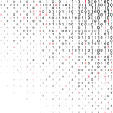 Abstract binary code Technology Background. Data and technology, decryption and encryption, computer background numbers 1,0. Flat binary code screen listing Vector Illustration