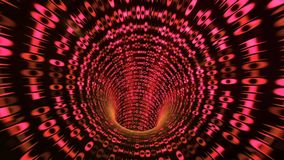 Binary code tunnel - red 3D rendering. Abstract binary code tunnel - red Vector Illustration