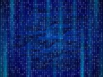Abstract binary computer code. Digital numbers on a blue background. Royalty Free Stock Photo