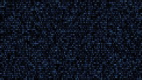 Abstract binary matrix alphabet blue vector illustration